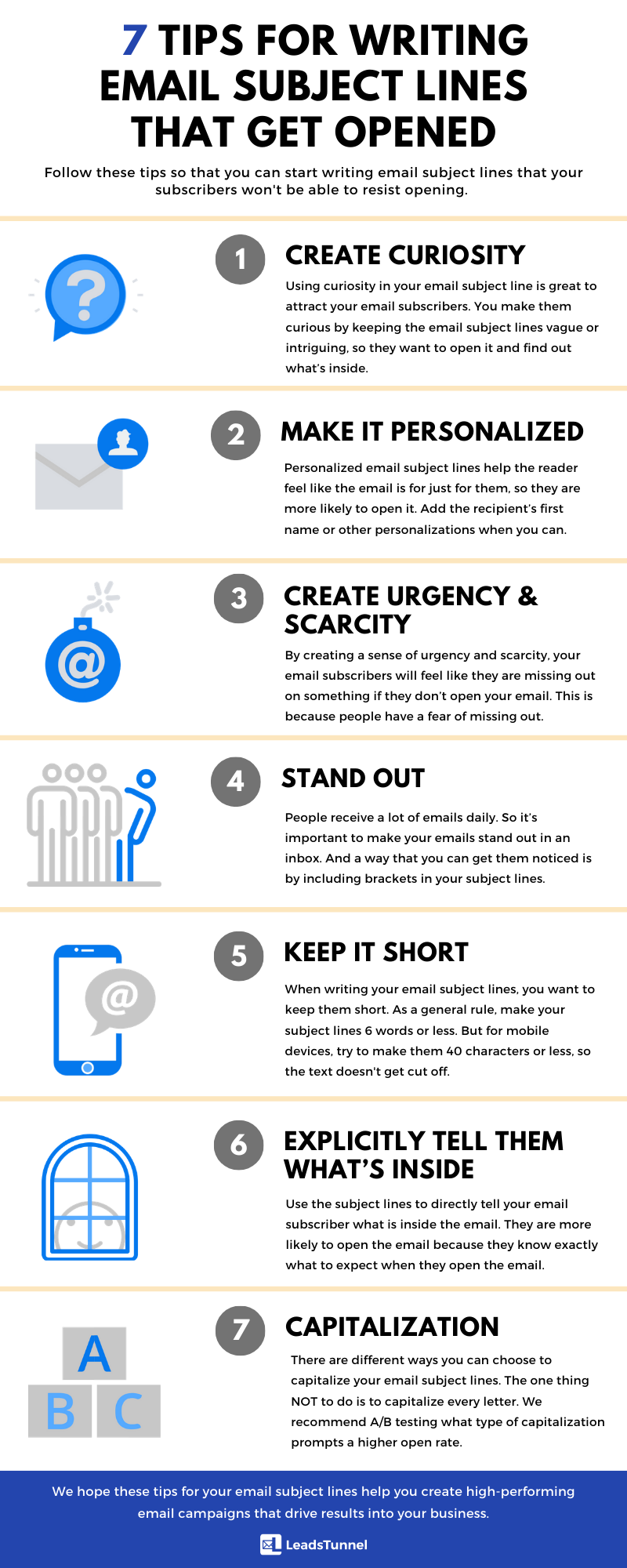 7 Tips For Writing Email Subject Lines That Get Opened Infographic